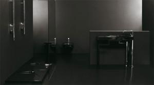 Przykład czarnej ceramiki łazienkowej