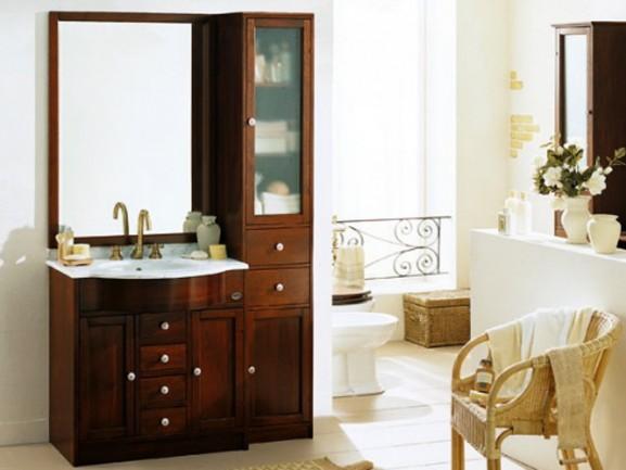Stylowa umywalka zamontowana na szafce